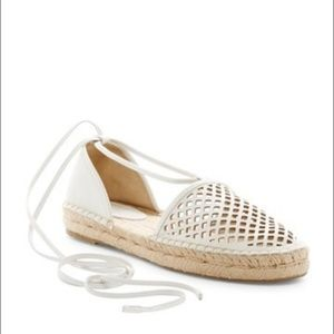 Frye Perforated Leather Espadrilles